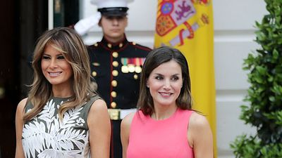 Melania Trump and Queen Letizia of Spain rule the White House