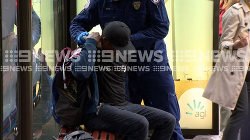 The man was treated at the scene. (9NEWS)
