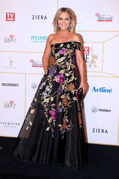 <em>The Today Show</em>'s Georgie Gardner in Varacalli Courture at the 2018 Logie Awards