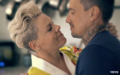 Pink and Carey Hart in 90 Days music video