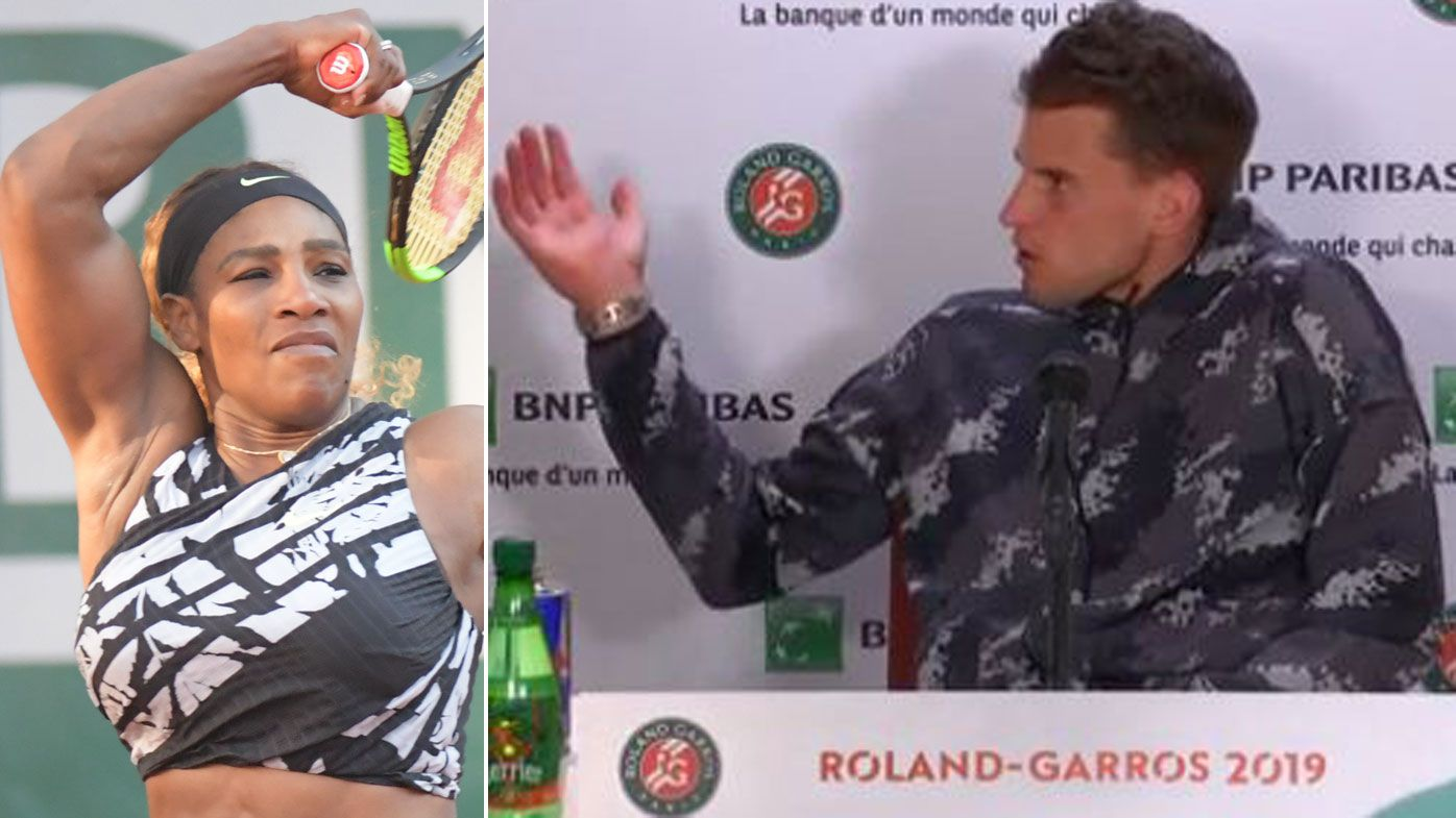 Beaten Serena Williams kicks Dominic Thiem out of French Open press conference room