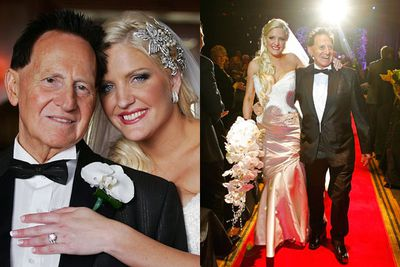 Married in a traditional Jewish ceremony at Melbourne's Crown Casino, Geoff and Brynne splashed out an estimated $3 million, including $500,000 worth of diamonds for Brynne, a helicopter, a Bentley, 550 guests as well as circus and musical acts. Special guests Jason Alexander and Fran Drescher were flown from the US... even though they hadn't met the couple before! Guest Kerri-Anne Kennerly described it as 'like the Logies with a big budget'.<br/><br/>Images: Getty