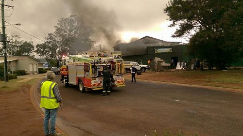 Emergency crews remain on the scene. (9NEWS)