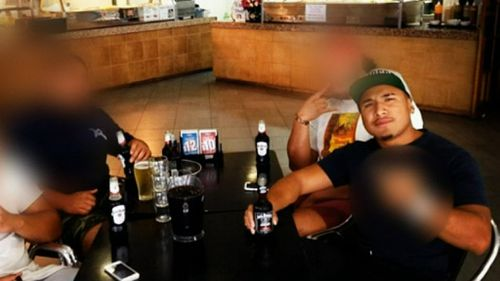 Hopoate Jr had once looked forward to a promising rugby league career. (9NEWS)