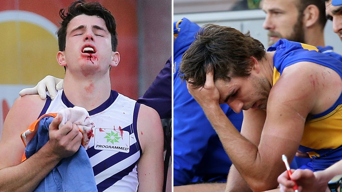 Andrew Brayshaw and Andrew Gaff
