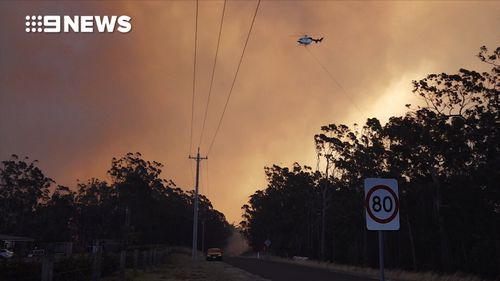Helicopters have been supporting fire crews on the ground at Mount Kingiman