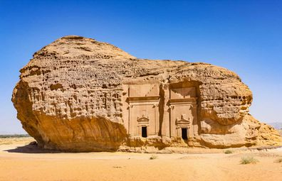 Madain Saleh, archaeological site with Nabatean tombs, Saudi Arabia