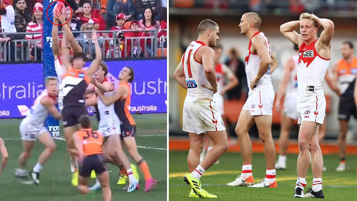 AFL great Jonathan Brown backs umpire's final-second call in Swans-Giants derby thriller