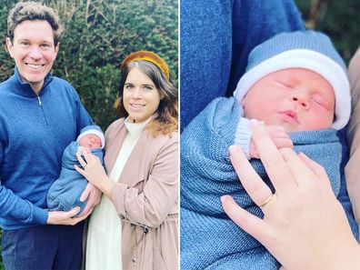 Princess Eugenie, Jack and Baby August.
