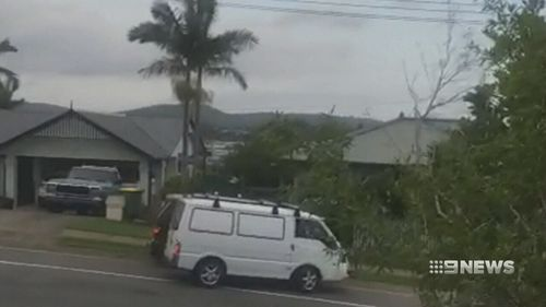 Witnesses filmed the moment Mr Heidke allegedly forced the woman into his van. (9NEWS)
