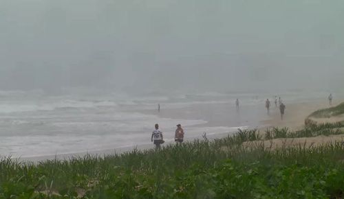 Parts of northern and central Queensland are on high alert today as the remnants of Tropical Cyclone Iris tracks towards the coast, bringing wild winds and heavy rain. Picture: 9NEWS.