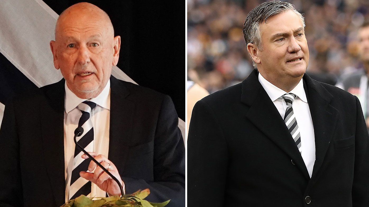 Geelong president slams 'hopelessly conflicted' Eddie McGuire over Jack Steven comments