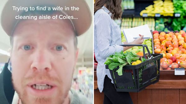 Aussie man attempts to 'find a wife' in a supermarket cleaning aisle, much to no one's delight