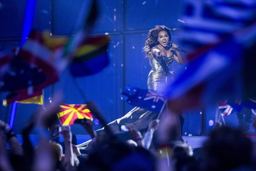 Jessica Mauboy performed at  Eurovision in 2014. (AAP)