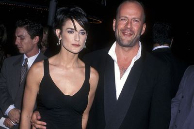 In celeb years, Demi's next romance is practically a lifer, lasting 13-years with Bruce Willis. The couple had three girls and were a pretty solid couple. <br/><br/>But in 2000, called quits on their romance. However, they're still close friends and still holiday together. <br/>