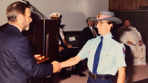 Dearne Fulcher was awarded a bravery award for her efforts in the 2002 Blue Mountains fires.