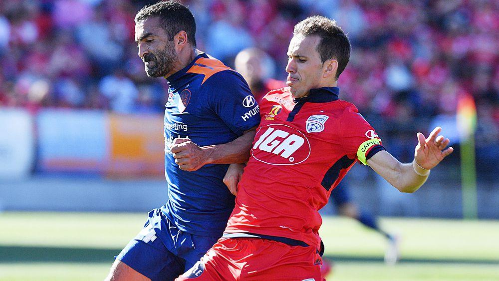 A-League: Brisbane Roar record rare win over Adelaide, captain Matt McKay red-carded