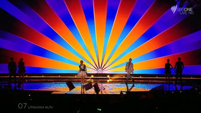 Lithuania put on a very colourful show. (SBS)