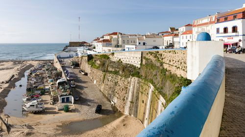 The fishing village Ericeira, overlooking the old harbour and beach Praia dos Pescadores. (Getty)