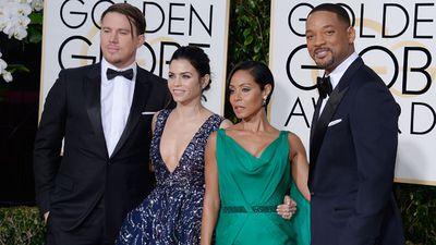 Channing Tatum, Jenna Dewan Tatum, Jada Pinkett Smith and Will Smith. (Getty)