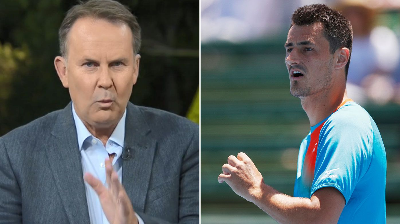 Tony Jones takes down Bernard Tomic after Lleyton Hewitt revelation