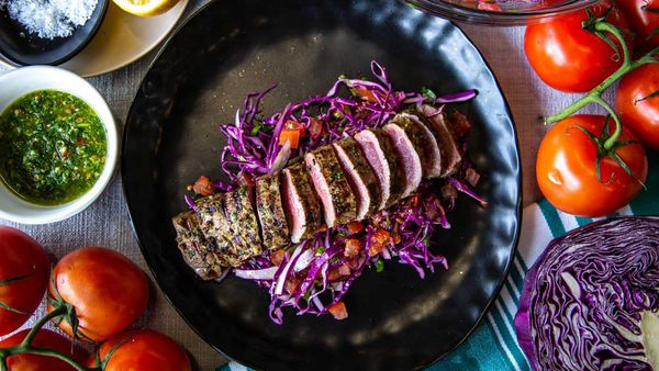 The Giles' Mexican Lamb with Cabbage Salad
