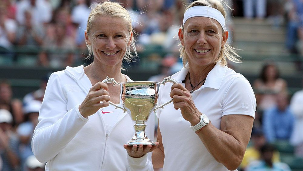 Jana Novotna and Martina Navratilova.
