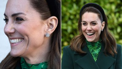 Kate Middleton Duchess of Cambridge $33,500 £17,000 diamond earrings Asprey London Royal tour Ireland
