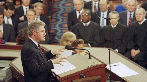 Bill Clinton addresses Congress in 1993.