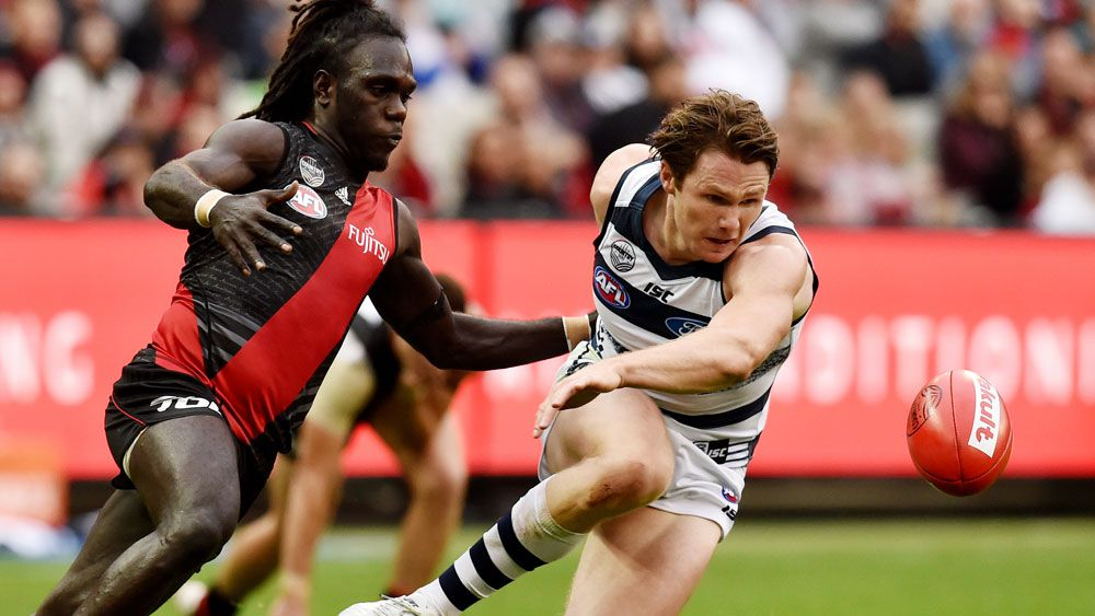 Cats scrap past dogged Bombers in AFL