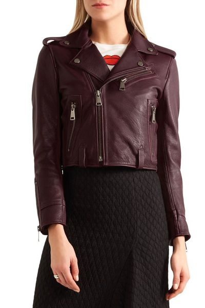 "<a href=""https://www.theoutnet.com/en-au/shop/product/biker-jackets_cod1998551928985782.html#dept=INTL_Leather_JACKETS_CLOTHING"" target=""_blank"" draggable=""false"">Victoria, Victoria Beckham Cropped Leather Biker Jacket in Burgundy, $630</a>"