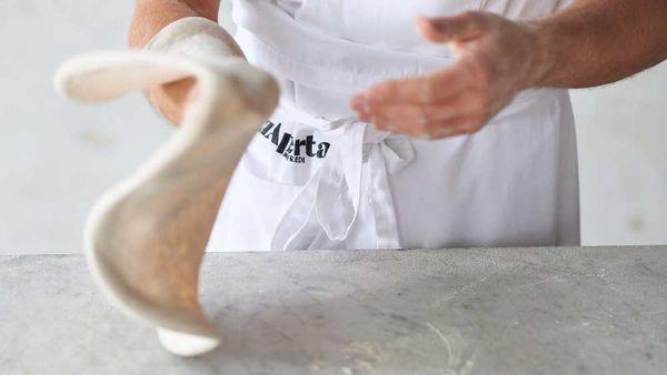 Stefano Manfrei's basic pizza dough, direct method - fresh yeast dough