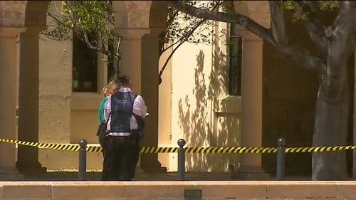 The alleged attack occurred at the University of WA on Saturday.