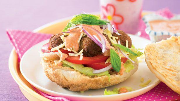 Falafel and salad rolls