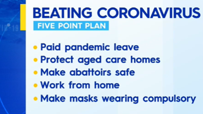 Sally McManus developed a five-point plan for beating coronavirus in workplaces.