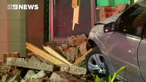 The 24-year-old unaccompanied learner driver caused extensive damage to the home in Melbourne's western suburbs.