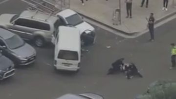 A man has been wrestled to the ground in a dramatic arrest in Bankstown.