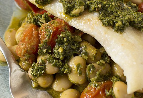 Snapper with herb and citrus butterbeans