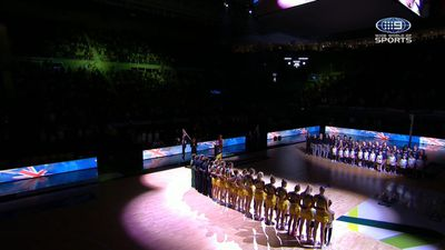 Australian Diamonds in hilarious anthem fail for Quad Series match against New Zealand Silver Ferns