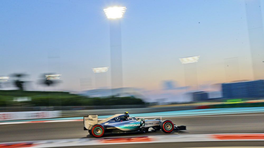 Nico Rosberg in action at Abu Dhabi. (AAP)
