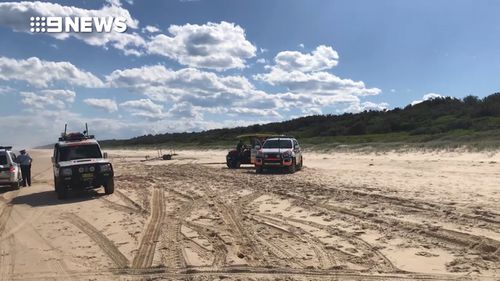Emergency crews are continuing a search for the 11-year-old who has not been seen since he was swept into the hazardous waters. (9NEWS)