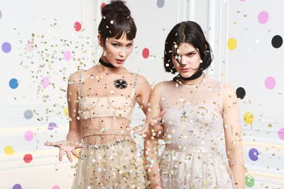 Bella Hadid and Soko at the launch of Dior - The Art of Colour.