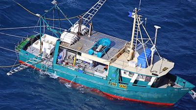 Sunken fishing trawler found off Queensland coast