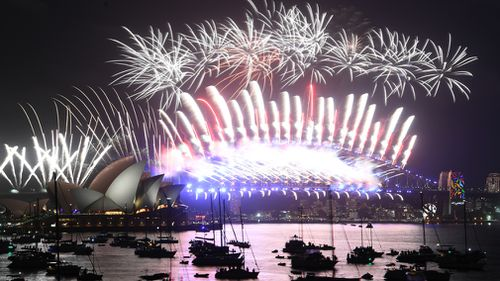 Sydney is dazzled by a spectacular midnight fireworks display (AAP)