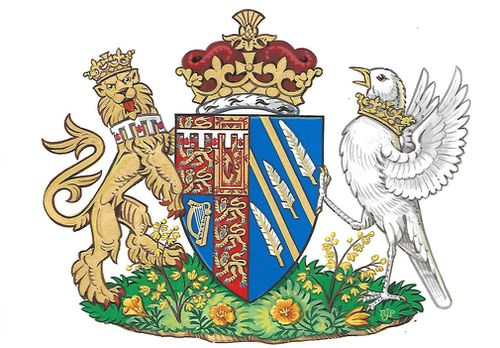 Meghan's coat of arms. (PA/AAP)