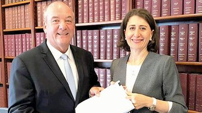 NSW Premier Gladys Berejiklian and former MP Daryl Maguire.
