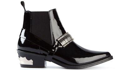 "<a href=""http://www.farfetch.com/au/shopping/women/Toga-Pulla-western-style-ankle-boots-item-10887528.aspx?""> Western Style Ankle Boot, $639.45, Toga Pulla</a>"