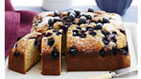 Blueberry and vanilla cake