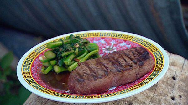 Pak boong fei deng (stir-fry asian vegetables)