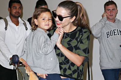 Mama Miranda plays with a cheeky Flynn, who looks happy to be back on home soil until...